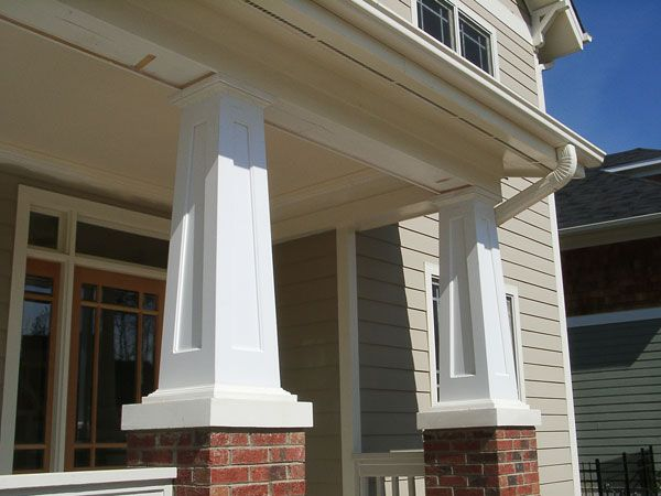 Californian Bungalow Porch Columns Font Porch Ideas