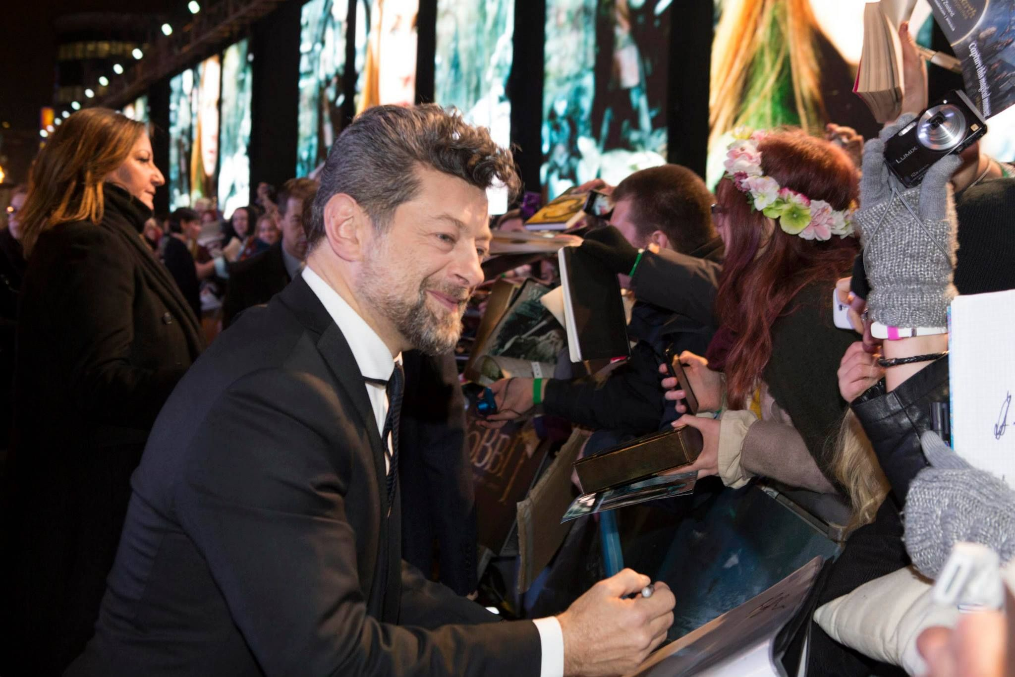 Andy Serkis (Gollum) at London premiere of BOFA
