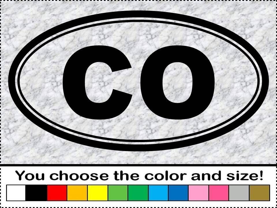Co Colorado Vinyl Sticker Decal Euro Oval Usa Rv Travel