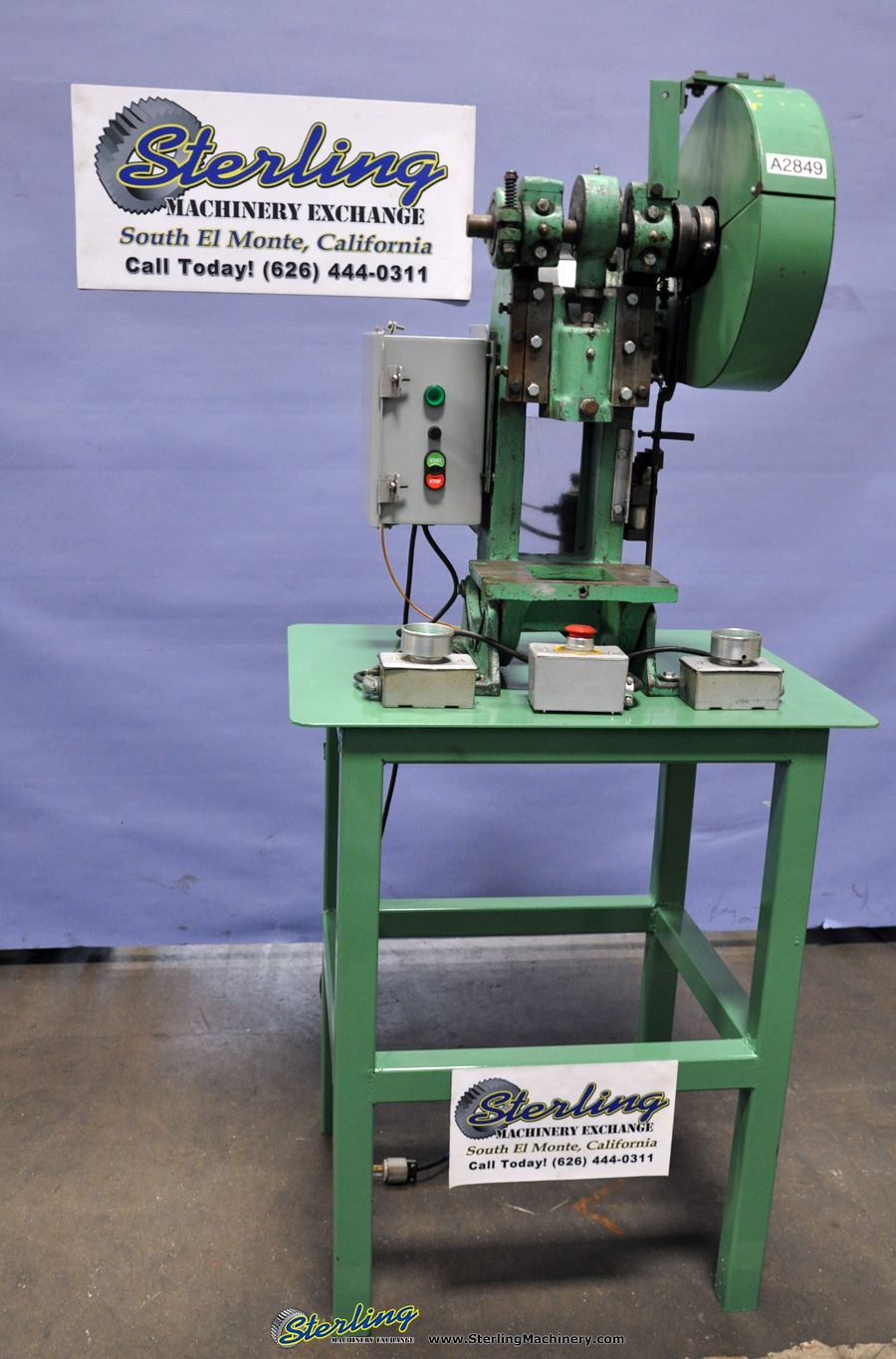 5 Ton Used Benchmaster OBI Punch Press, Mdl  151-E, Stand