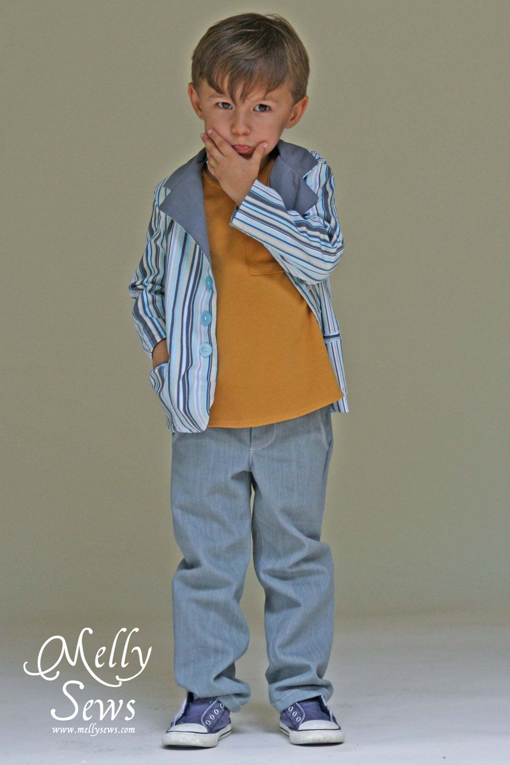 Basic Blazer PDF Sewing Pattern Boy Girl Baby Toddler 18m 2T 3T 4T 5 ...