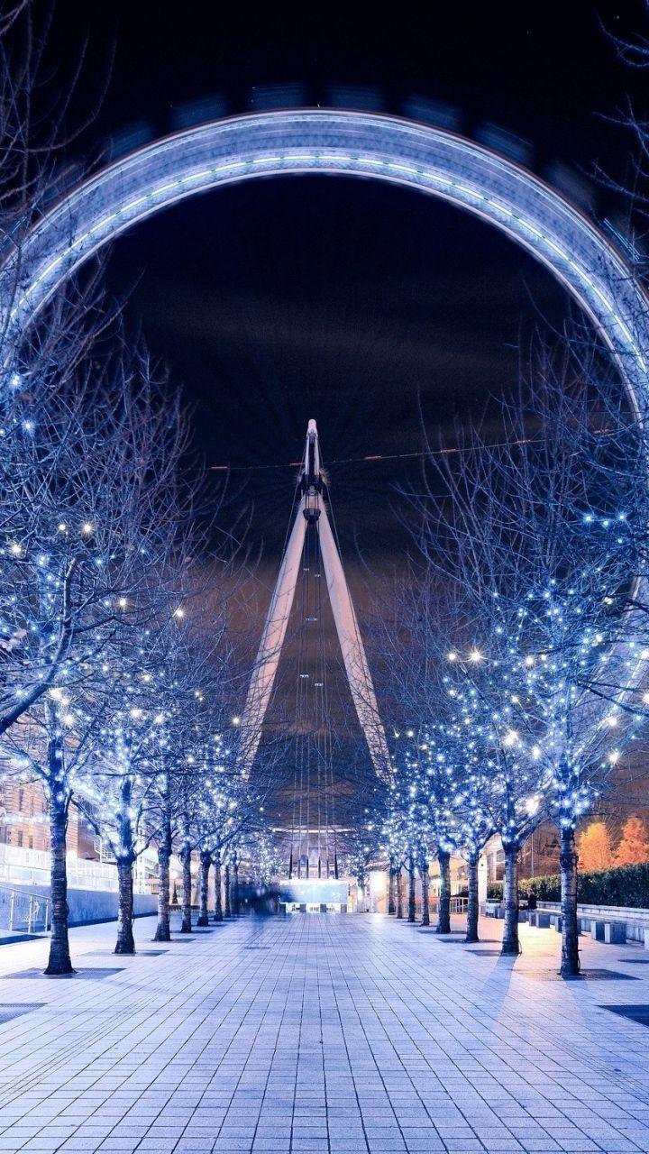 Download Wallpaper 720x1280 London Eye, Ferris Wheel
