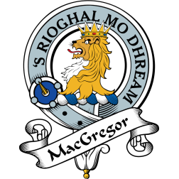 Scottish NEW Scotland Crest Pin Badge MacGREGOR Clan Badge