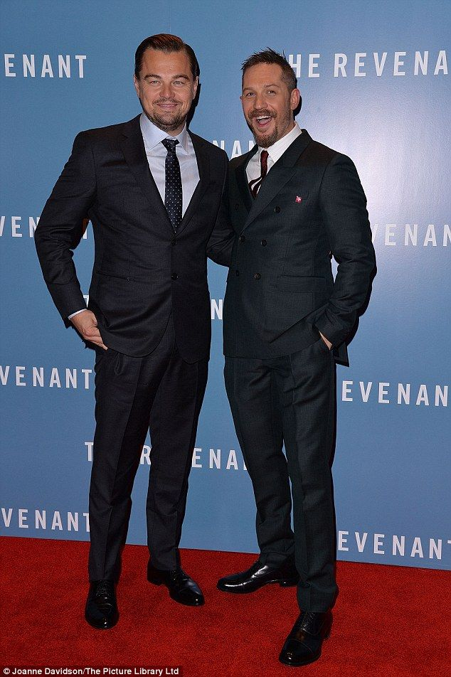 5237bda3d Critically-acclaimed: Oscar-nominated duo Leonardo DiCaprio and Tom Hardy  led the way as The Revenant had its European première at the Empire Theatre  in ...