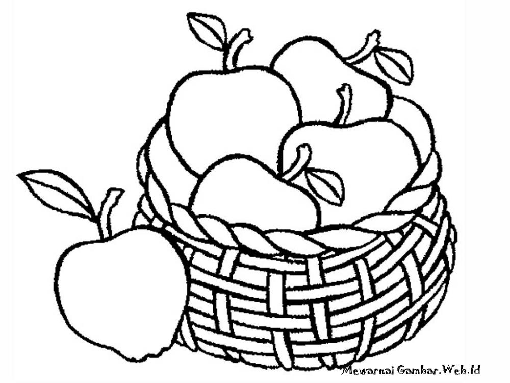 koleksi 15 hasil mewarnai gambar buah
