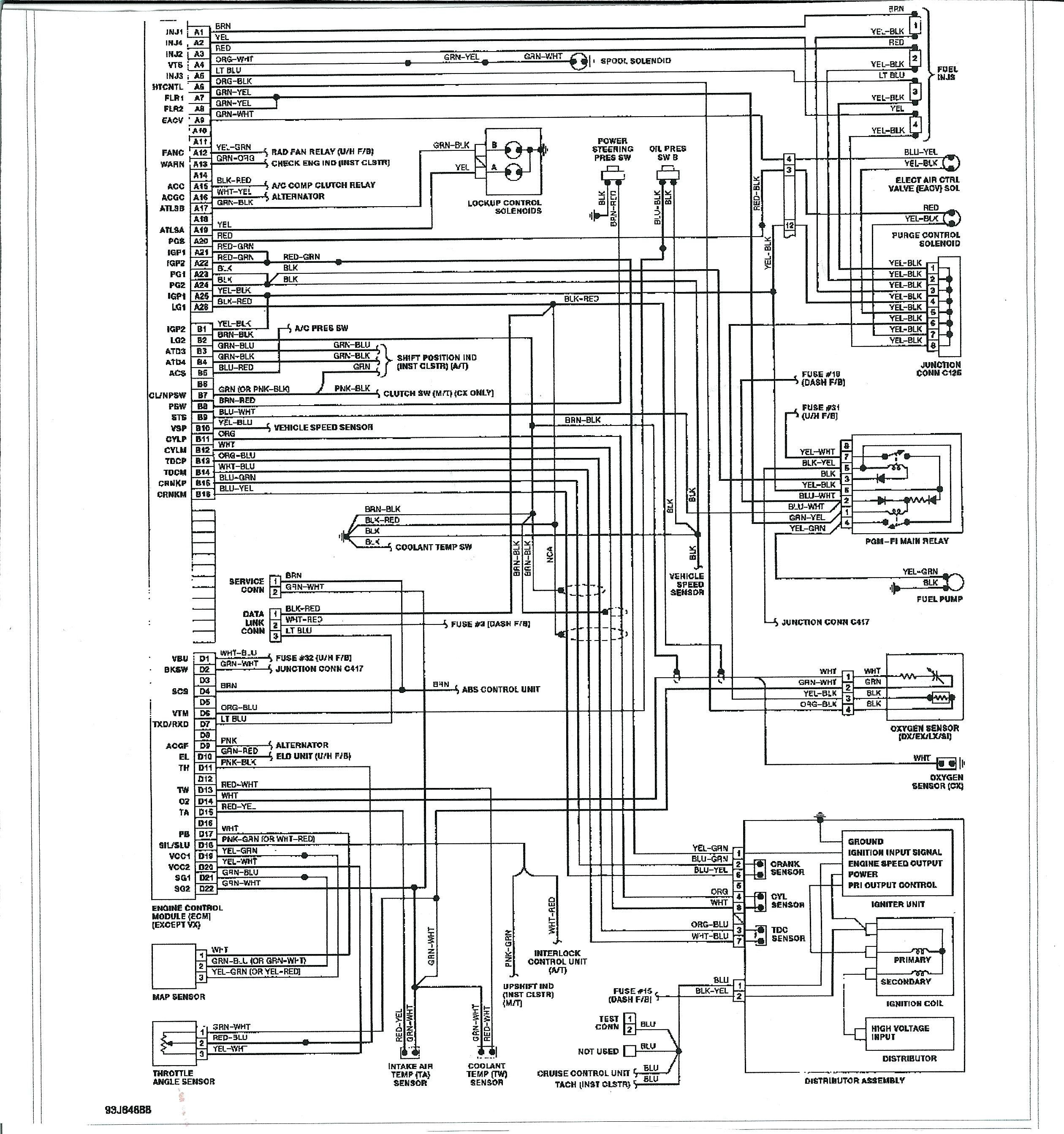 Civic Obd2 Wire Harnes Schematic