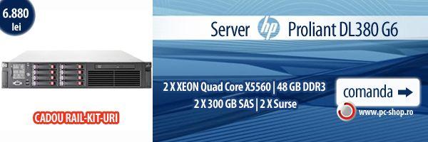 Server HP PROLIANT DL380 G6 2 X XEON QUAD CORE X5560- 48 GB DDR3- 2 X 300 GB SAS - 2 X SURSE | 6.880 RON | PC Shop