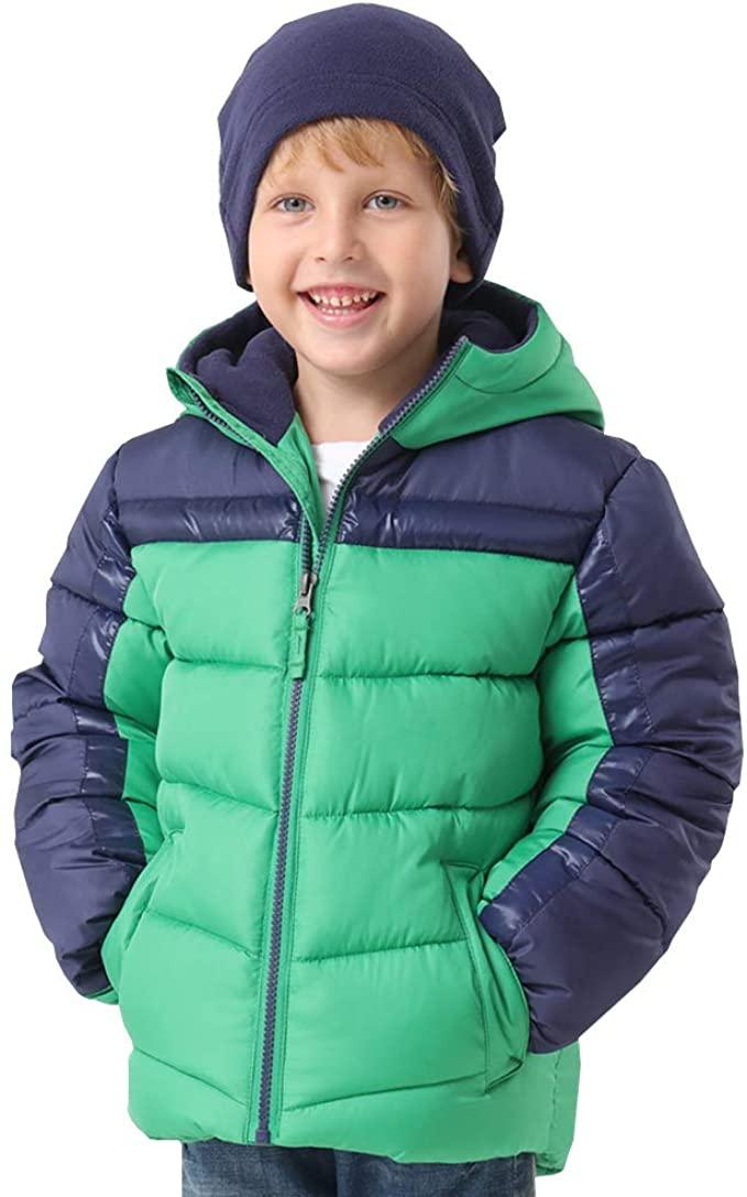 HZXVic Toddler Boys Winter Coat Lightweight,Waterproof Hooded Puffer Jackets for Kids Parka Outerwear