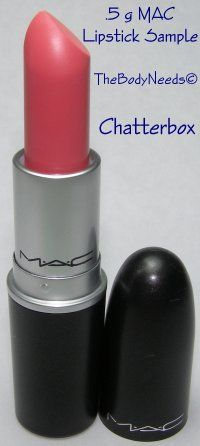 MAC Lip Stick Sample - Chatterbox - Bright Red-pink (Amplified Crème)  thebodyneeds2.com  $3.79