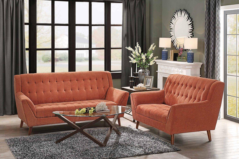 A Beautiful Tufted Accent Orange Living Room Style Check It Now Komplekty Dlya Gostinoj Stili Dlya Gostinyh Komnat Gostinaya V Oranzhevom Cvete