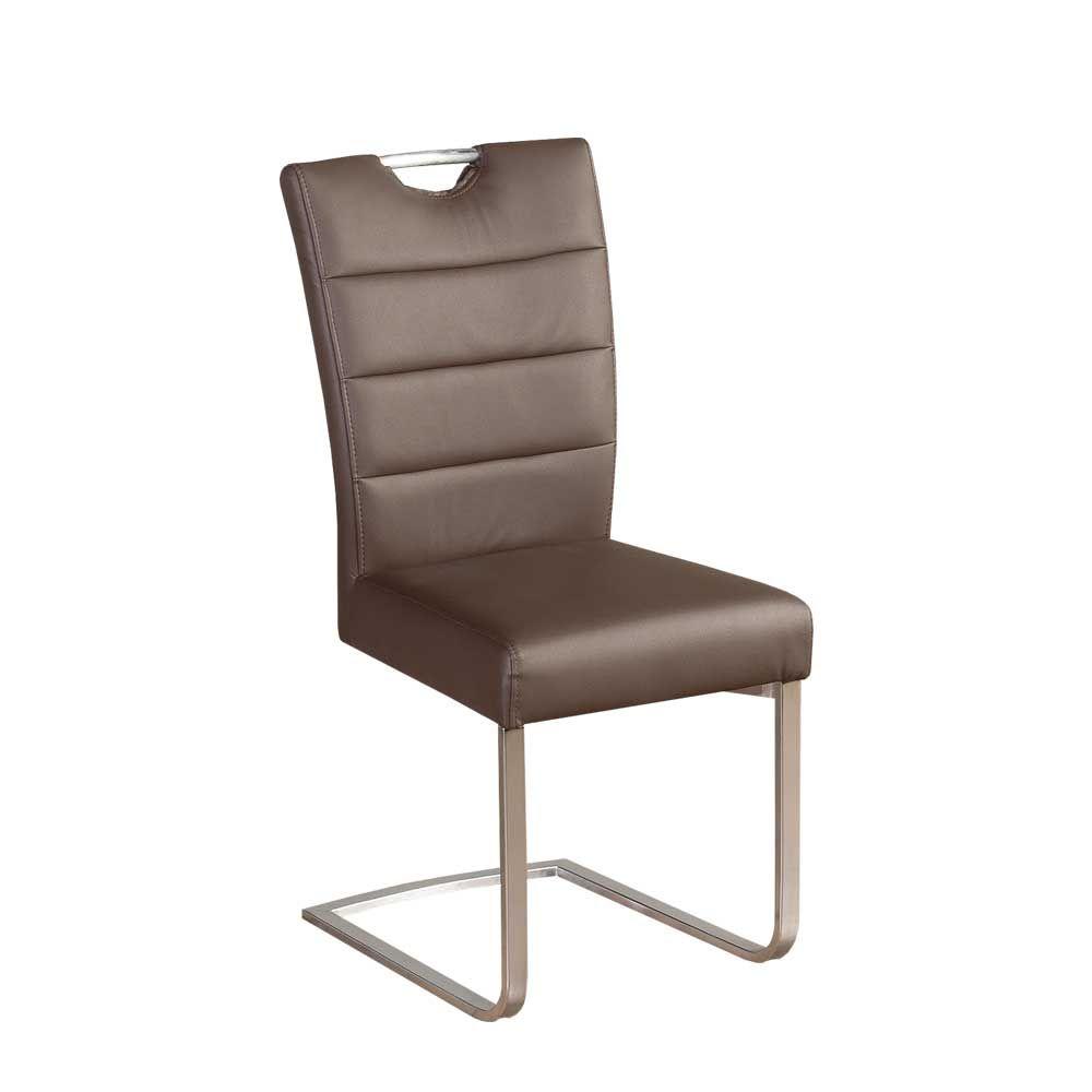 Freischwinger Stuhl in Braun Griff (2er Set) Jetzt bestellen unter ...