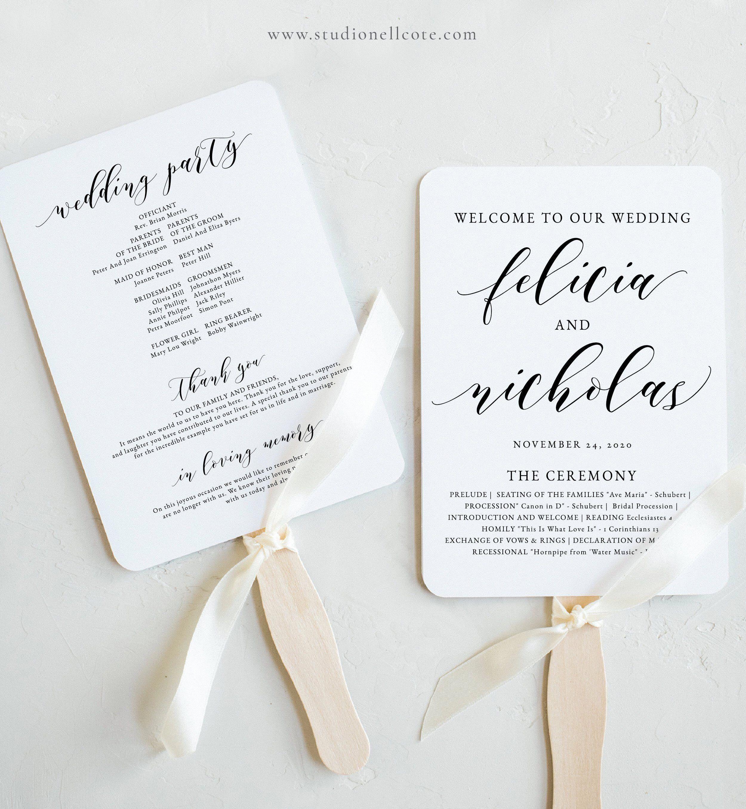 Wedding Program Fan-Wedding Program-Templett Program