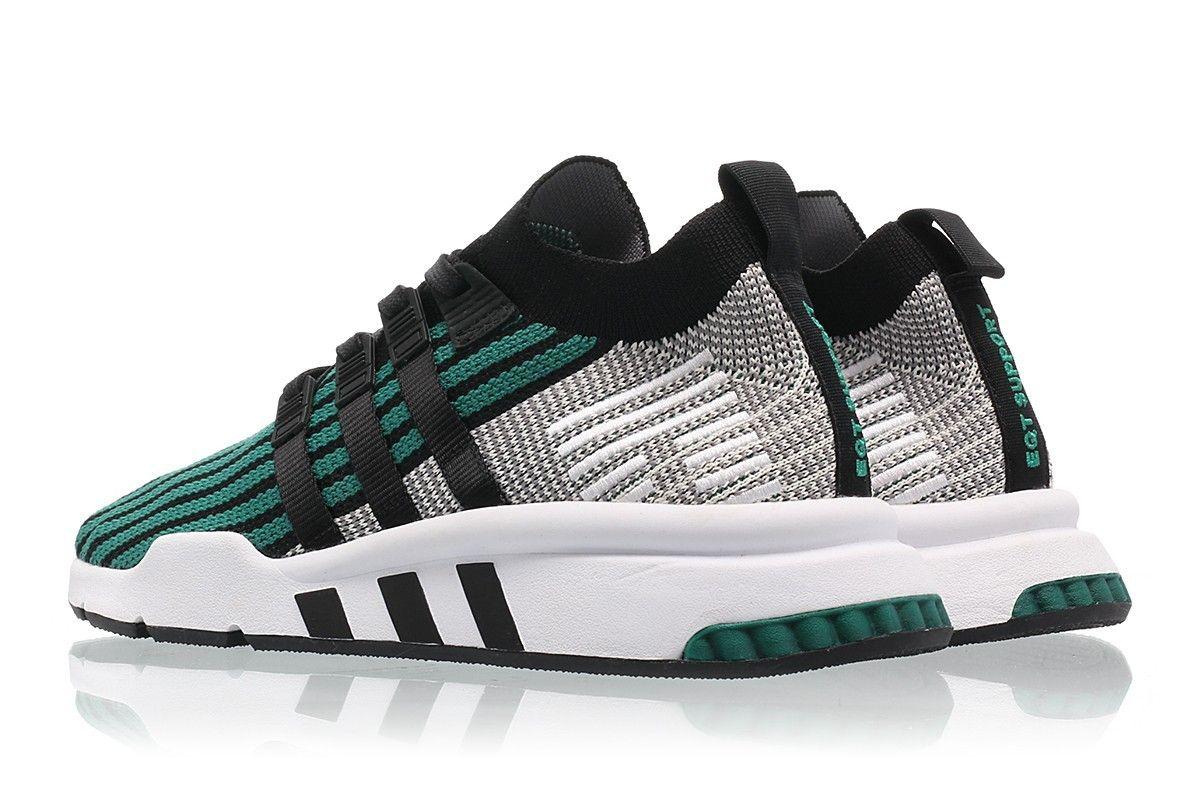 Adidas Equipment Running Support Shoes Core BlackSub Green
