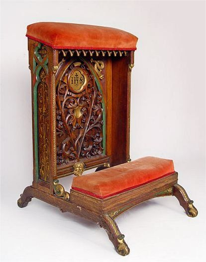 antique prayer bench - Google Search