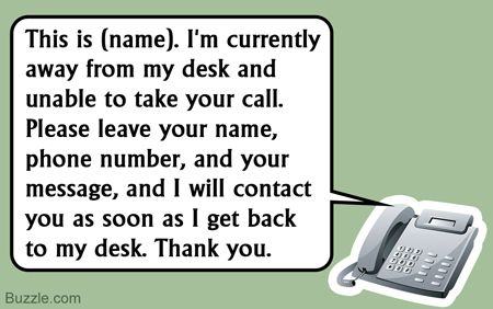 Office Voice Mail Voicemail Greeting Voicemail Messages