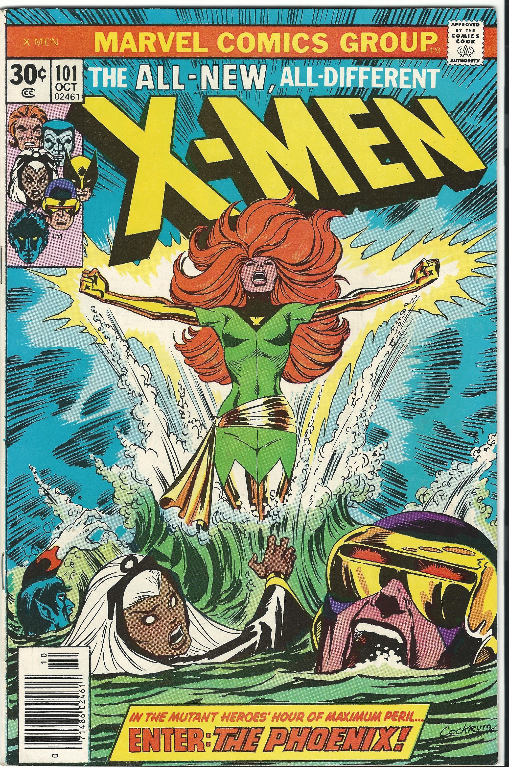 Character Phoenix Aka Phoenix Force Jean Grey S Clone Costume Dessing Dave Cockrum Dimensio Marvel Comics Covers Hulk Comic Comic Book Covers