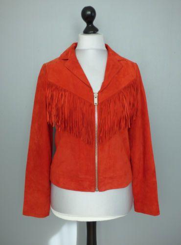 Veste cuir rouge ebay