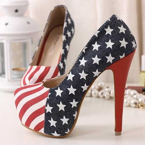 Female shoes Newly Fashion American flag sexy ultra high heels shoes colorant match plus size EUR40 US9 big shoes for women on AliExpress.com. $28.99