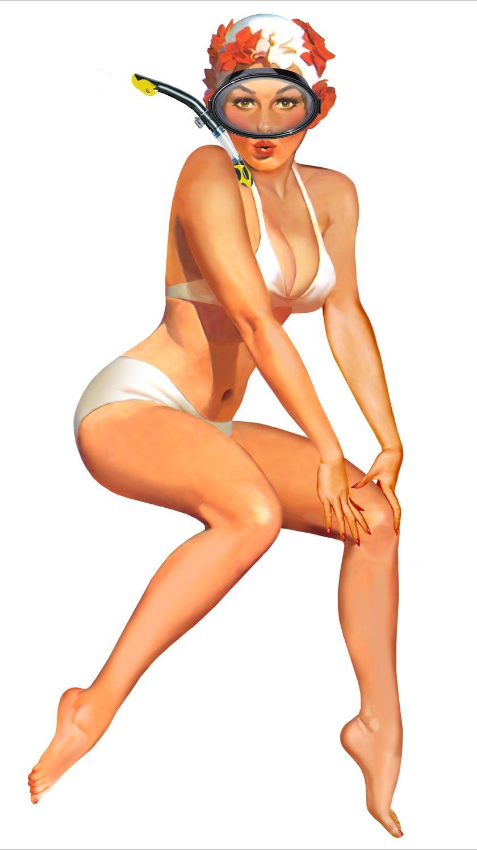 pin up girl 70s