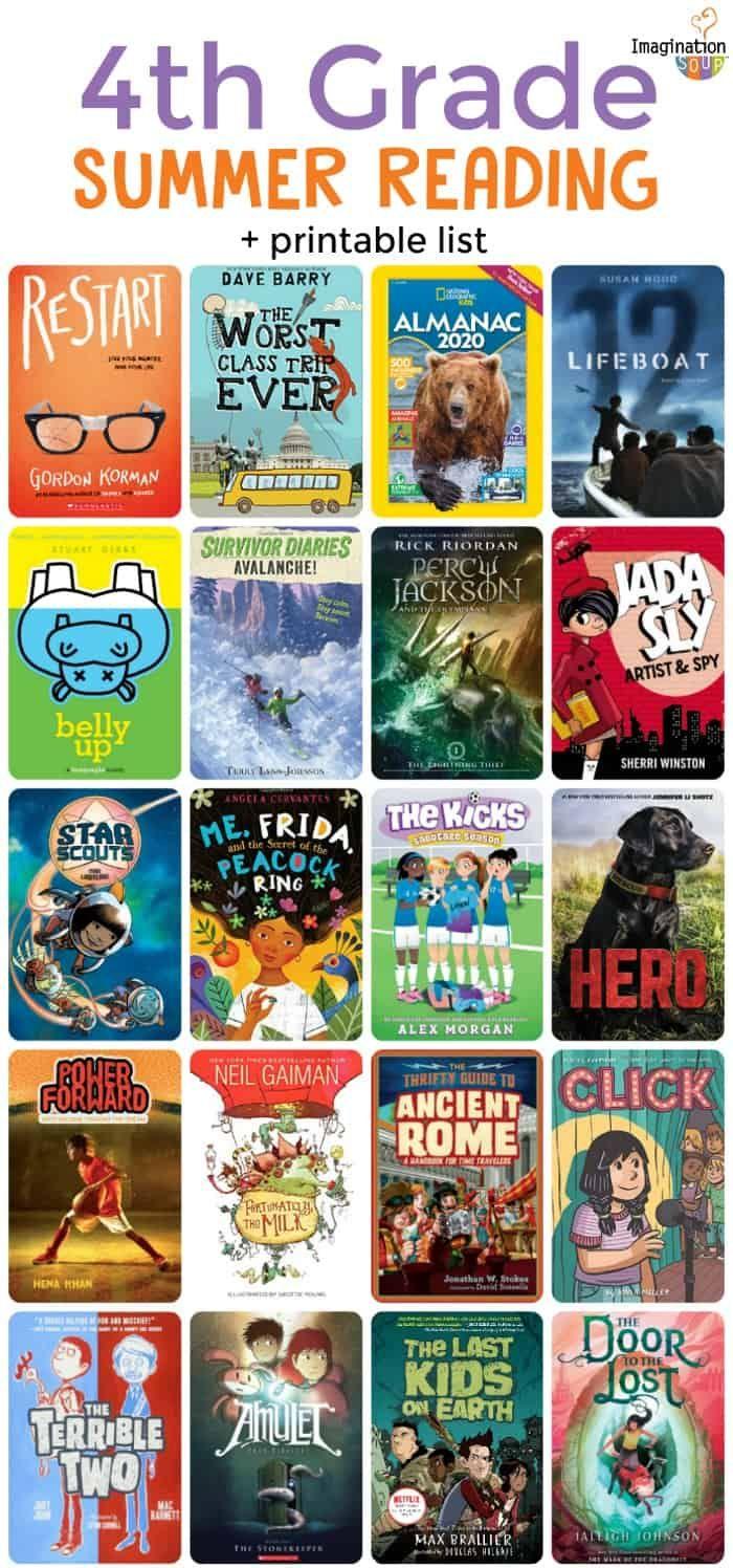 Summer Reading List 2020.4th Grade Summer Reading List Ages 9 10 Imagination