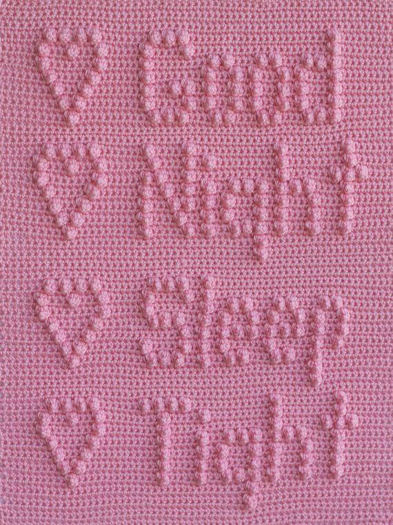 Good Night Sleep Tight Baby Blanket Pattern Crochet Baby Security