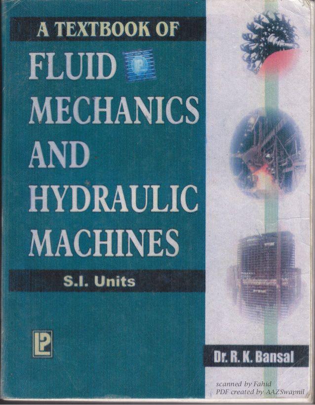Fluid Mechanics Text Book Pdf