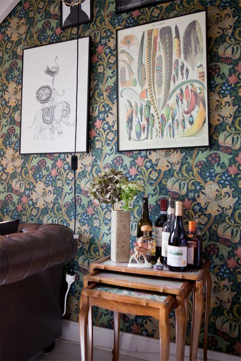 Golden Lily by William Morris, looks great with black