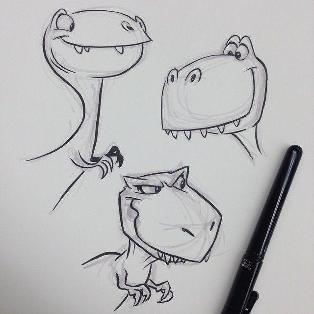 T-Rex                                                       … #dinosaurillustration