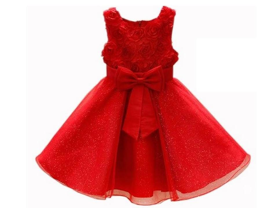 4fb80618 hermoso vestido rojo de fiesta para niña 7 a 8 años | Vestidos ...