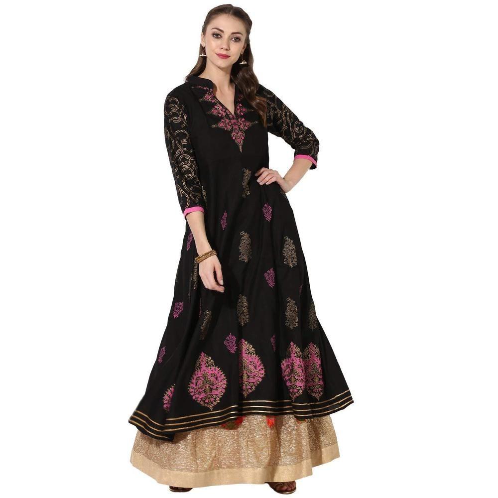 Details about women indian kurta kurti long maxi dress top tees