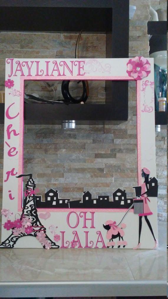 Barbie en París foto cabina marco-OH LA LA   photocall   Pinterest ...