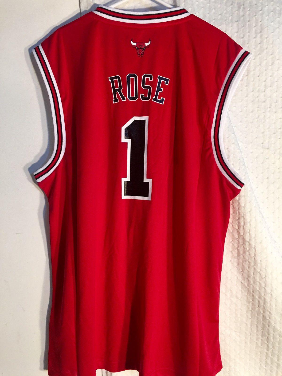 best website 7c881 c6073 $14.99 - Adidas Nba Jersey Chicago Bulls Derrick Rose Red Sz ...