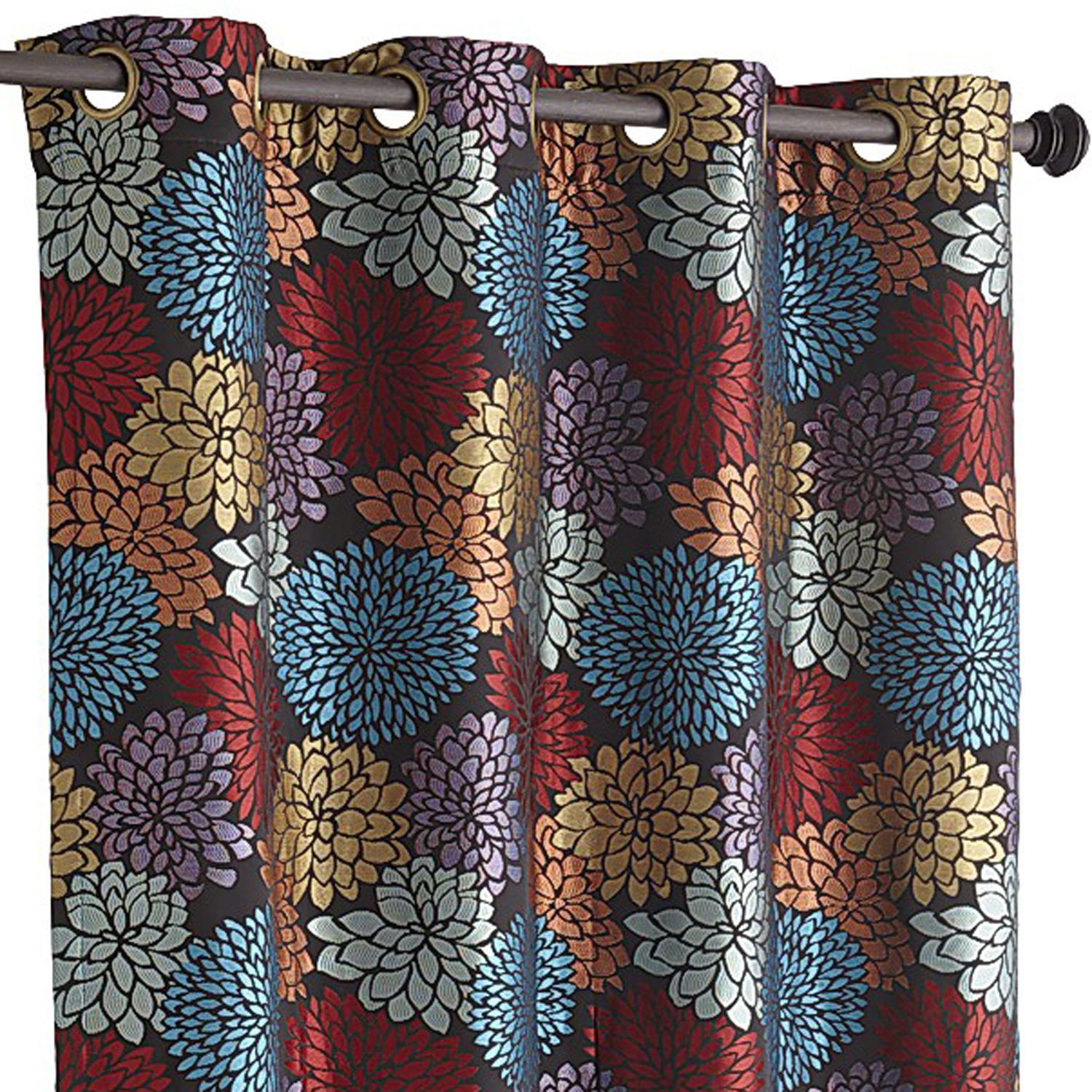 Bloom Garden Curtain - Black 84""