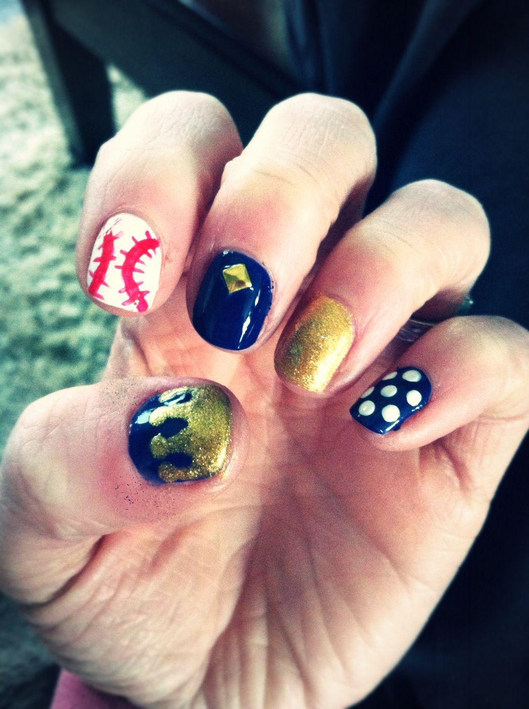 KC royals nail art | Beautify Me | Pinterest | Makeup
