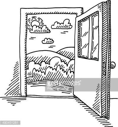 open door drawing stock open door use this to journal bible study handdrawn vector drawing of freedom concept in 2018