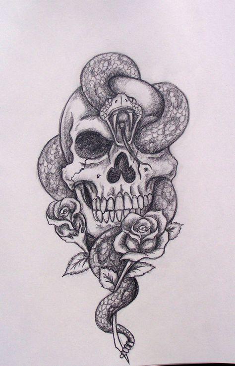 Snake skull drawing cool tattoo idea tattoos pinterest snake skull drawing cool tattoo idea thecheapjerseys Choice Image