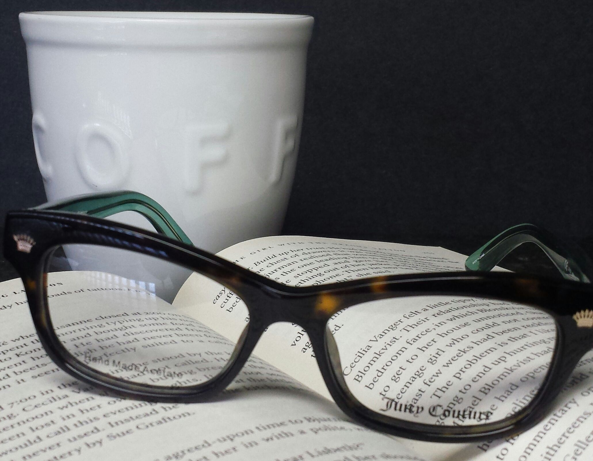Reading glasses, coffee and a good book are a great way to start the weekend. Come in for your reading glasses today.