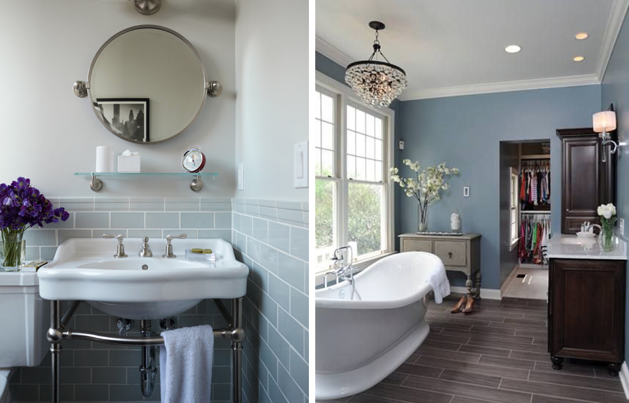 Bathroom Blues 3 and 4 … | Bathroom colors, Blue bathroom ...