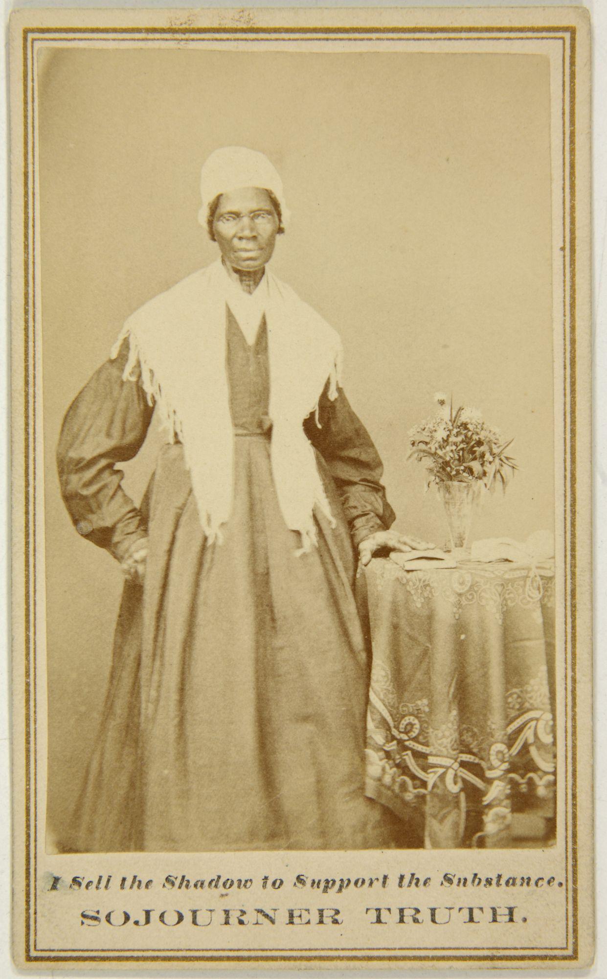 Caprioned Carte De Visite Of Sojourner Truth 1863 Albumen Print Mounted On Cardboard 4 X 2 1 In BAMPFA Gift Darcy Grimaldo Grigsby