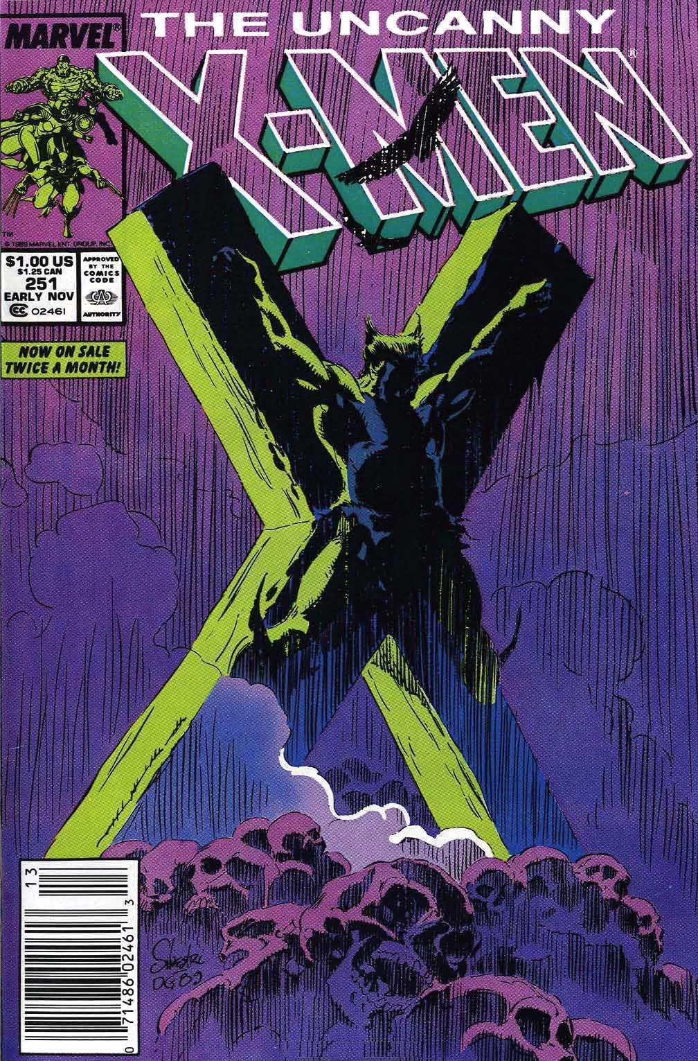 Uncanny x men vol 1 251 comic marvel and comic covers uncanny x men 251 by marc silvestri fandeluxe Gallery