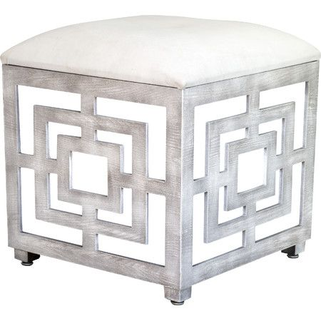 Perfect for stowing throws and media accessories in the den, this chic  storage ottoman showcases - Mirrored Ottoman Fordupont Living Design