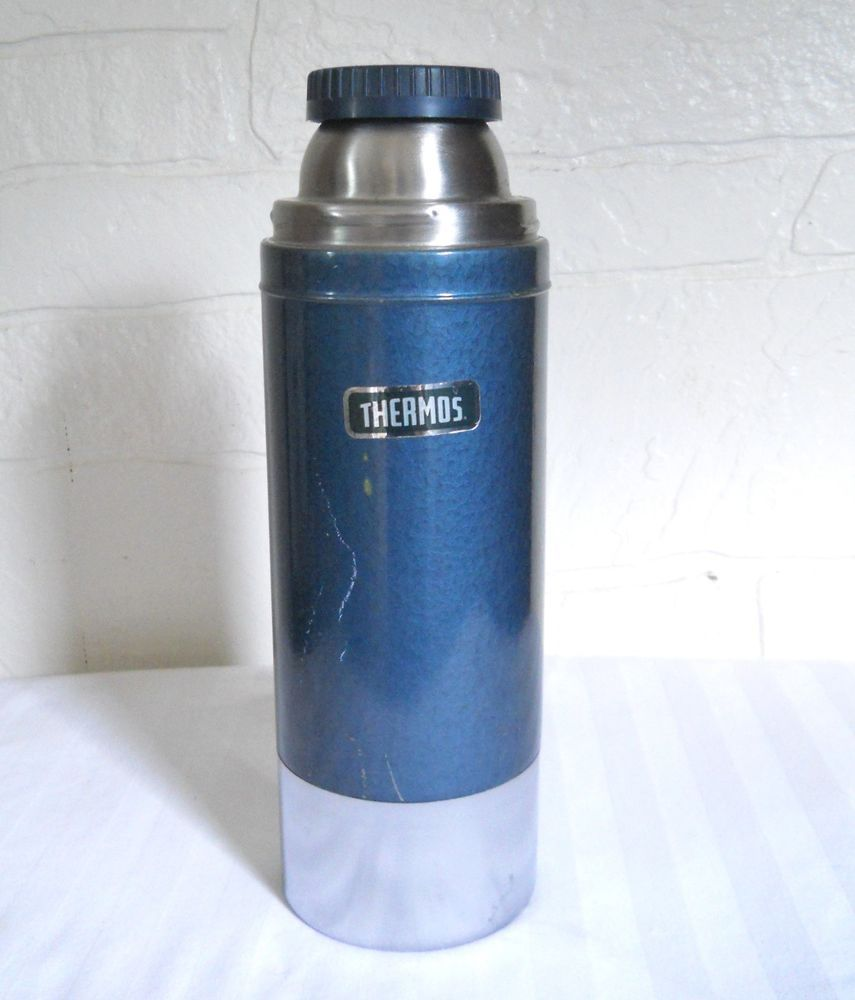 Vintage Thermos Brand Vacuum Bottle 1 Liter Stainless Steel Insulated Hot Amp Cold Thermos Vintage Thermos