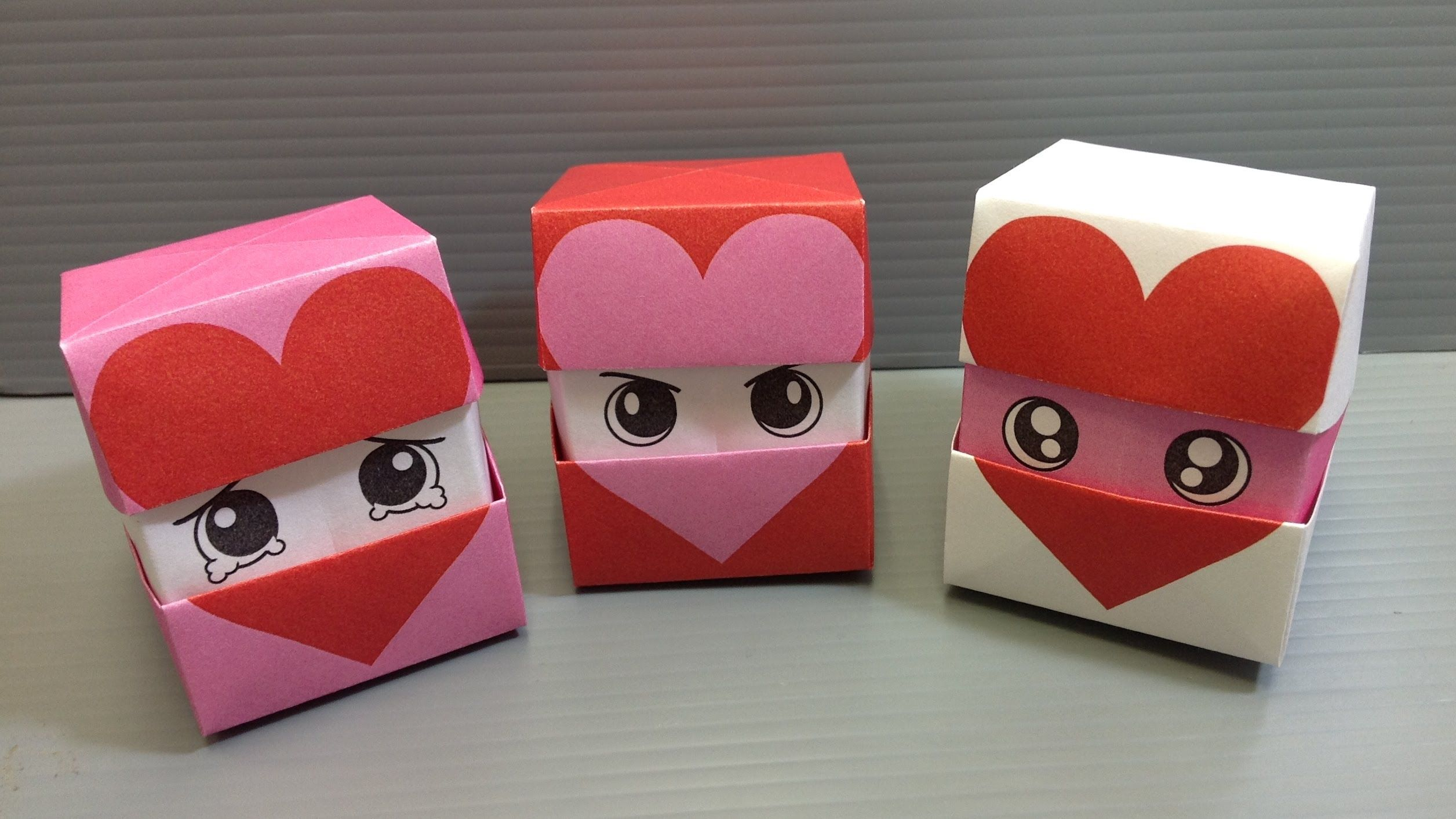 Origami Changing Faces Heart Cube Print At Home Valentines Origami Origami Box Tutorial Origami Box