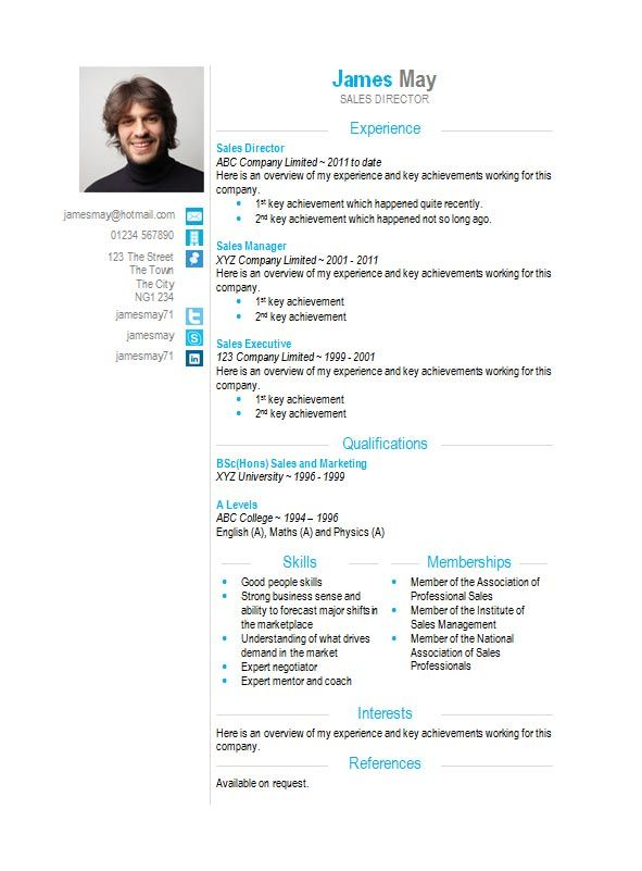 Contact Icons Word Cv Template  How To Write A Cv  Cv Template