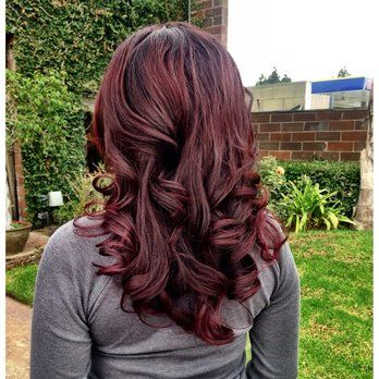 Images For Cherry Brown Hair Color With Blonde Highlights Hair