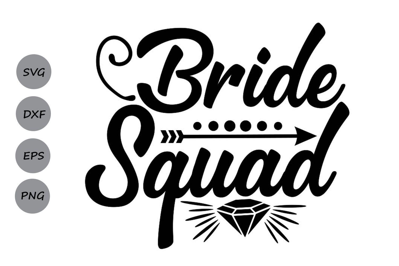 Bride squad graphic by cosmosfineart creative fabrica