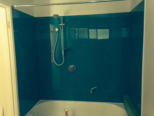 Shower Over Bath Wall Panels In Innovative Splashbacks Acrylic Painted  Splashbacks. Colour From Our Standard Colour Range: Jungle.