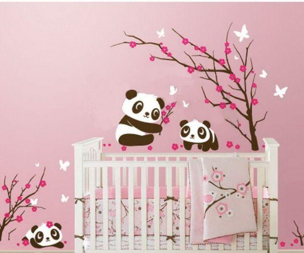 Tapeten Farben Ideen Babyzimmer Mit Rosigen Wänden