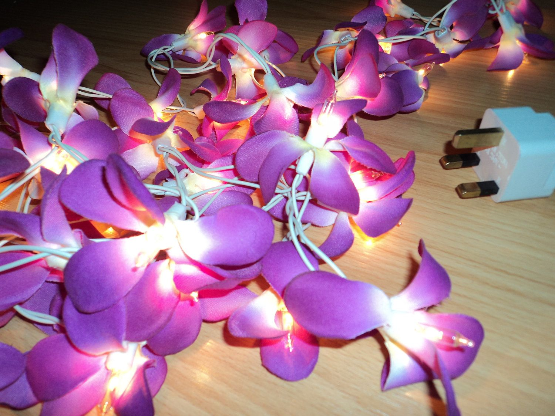 35 Purple & White Flower Frangapani Fairy by LittleThaiTreasures