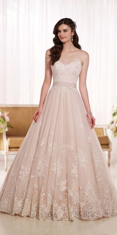 Blush princess gown | Wedding Ideas | Pinterest | Gowns, Princess ...